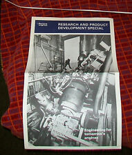 Perkins di ricerca e sviluppo prodotto speciale. ANNI 1970 nuovo impianto di prova