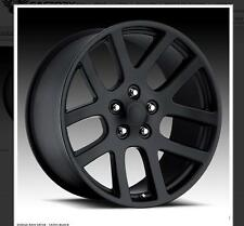 "22"" 22X10 SRT10 Dodge Ram Satin Balck Wheels Rims Fit Dodge Ram Specials deal"