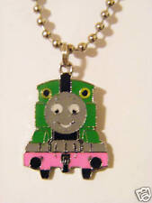 """Thomas the train """"Percy"""" Character charm pendant Chained Necklace"""