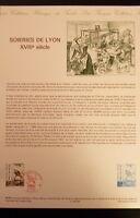 FRANCE MUSEE POSTAL FDC 38-89   SOIERIES DE LYON  2,20+0,60F   LYON   1989