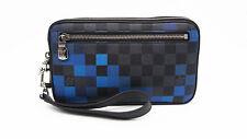 Authentic LOUIS VUITTON Damier Graphite Pixel Alpha Clutch N60196 19044911LN