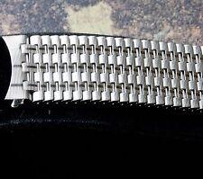 Vintage watch Swiss NSA bracelet 18mm curved ends patterned links NOS 1960s/70s