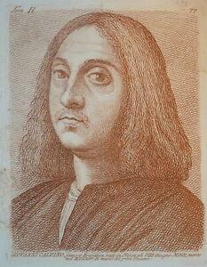 GRAVURE XVIII PORTRAIT JEAN CALVIN PROTESTANTISME PROTESTANT TIZIANO ITALIE 1750