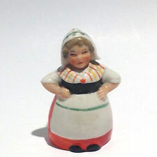 Antique Ceramic Salt Shaker:  Dutch Girl