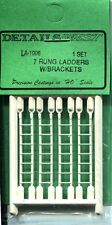 HO SCALE:  DETAILS WEST 1006:  LADDER: 7 RUNG