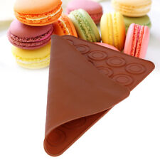 Round Cake Mold Sheet Mat Silicone Macaron Pastry Oven 30-Cavity Baking Mould