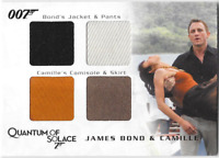 James Bond Archives Costume Wardrobe Prop Relic Card QC27 Bond & Camille