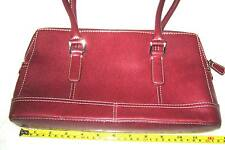 "Next Red faux leather small handbag zip baguette shoulder bag purse   7""x12 x3"""