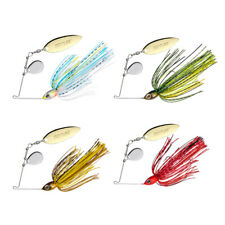 4pcs Spinnerbaits Fishing Lures Jig Head 10g Blade Skirts Buzzbaits Bass Pike