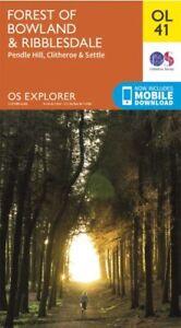 OL41 Forest of Bowland Ribblesdale Ordnance Survey Explorer Map OL 41