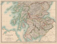 Southern scotland montrant des champs de bataille et dates. johnston 1912 old map