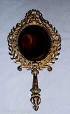Antique Signed Bradley and Hubbard Brass Colored Metal Hand Mirror