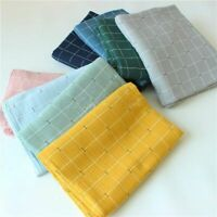 Plaid Printed Pure Cotton Fabric Breathable Double Gauze Crepe Cloth DIY Sewing