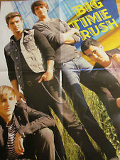 Big Time Rush, Justin Bieber, Double Four Page Foldout Poster