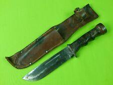 US WW2 WWII CATTARAUGUS Rare Variation Fighting Knife & Sheath