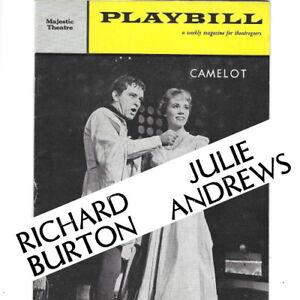 1960 CAMELOT USA Playbill programme Julie Andrews Robert Goulet Richard Burton
