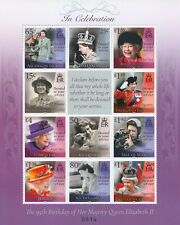 More details for royalty stamps 2021 mnh queen elizabeth ii 95th birthday joint issue 11v m/s