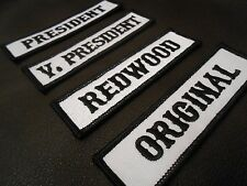 SON OF OUTLAW MC CLUB VP OFFICER TITLE RANK BIKER VELCRO® BRAND FASTENER PATCHES