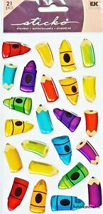 COLOUR WITH ME Sticko Epoxy Stickers - Children Crayons Colouring