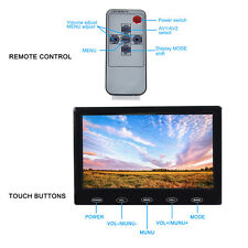 7 Inch LCD CCTV Monitor Security Video Display Screen VGA/AV/HDMI Input W/Audio