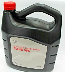 TOYOTA AUTO TRANSMISSION FLUID WS TYPE ATF NEW GENUINE 4L BOTTLE