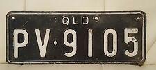 Vintage Queensland Australia license plate motorcycle? QLD PV9105