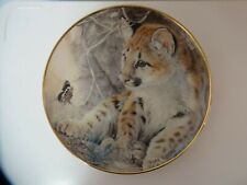 Baby Leopard with Butterfly Franklin Mint First Encounter G4561 Decorative Plate