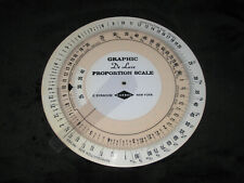 Gaebel Graphic De Luxe Proportional Scale Circular Slide Rule Template Drafting