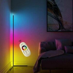 Floor Stand Lamps Colorful LED with Remote Control Corner Living Room Decoration