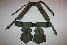 US Military Issue Vietnam Lot USMC Field Gear Belt Suspenders Ammo Pouches ST17A