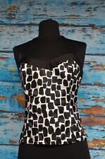 White House Black Market Sz 10 Halter Top Corset Cotton Silk Blend MSRP $88