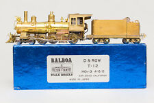 MINT BOXED HON3 BALBOA BRASS T-12 D&RGW 4-6-0 PASSENGER LOCOMOTIVE WESTSIDE
