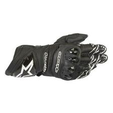 Motorcycle Gloves Racing Leather with Guards Alpinestars Gp pro R3 Black