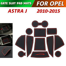 Gate slot pad For Opel Astra Accessories Anti-Slip Mat Coasters 2010-2015 (Red)