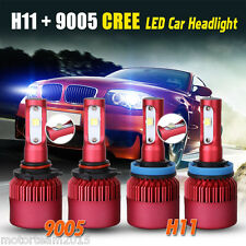 252W 25200LM CREE LEDs Headlights High & Low Beam 6500K White 9005 H11 H8 H9 Kit