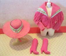 Vintage Barbie 1989 Cowgirl Cowboy Western Fun Fashion CLothes Boots Jacket HAT