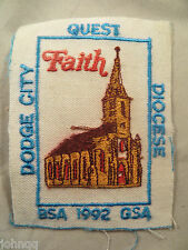 Dodge City Quest Diocese BSA 1992 GSA Embroidered Patch