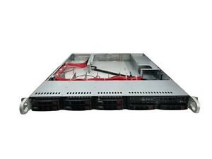 """1HE Supermicro CSE-113 Server Chassis inkl. Backplane + 8 x 2,5"""" Caddys Gehäuse"""