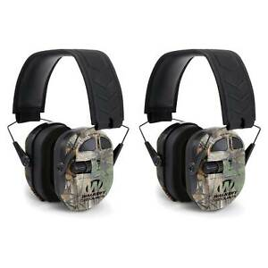 Walkers Ultimate Hunting Shooting AFT Power Muff Quads, Real Tree Camo (2 Pack)