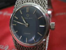 Vintage 1960s ETERNA MATIC Swiss SAHIDA Ladies' 18K Mesh Band Wrist Watch WORKS!