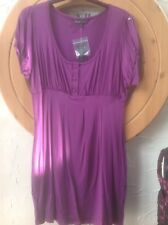 👀NEXT WOMAN Size 14  Purple Tunic 👚 Top- BNW🏷 RRP £24 Xmas