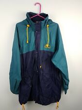VTG RETRO HELLY HANSEN BRIGHT BOLD ZIP-UP ATHLETIC SPORTS RAIN JACKET COAT UK L
