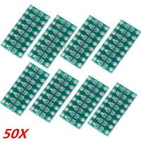 50Pcs SMD To DIP PCB Pinboard 0805 0603 0402 LED SMT 20.3*10mm Board
