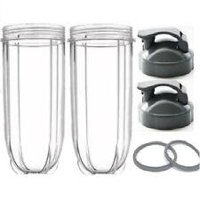 2 Nutribullet 600/900w Large Mug 24OZ Tall Oversized Cup + 2 Flip Top Lid