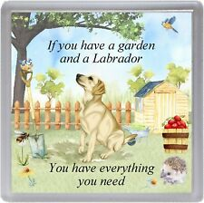 "Labrador Dog Coaster ""If you have a garden ...."" Novelty Gift by Starprint"