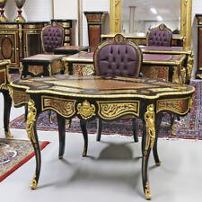 BOULLE FRANCE VERSAILLES BOULLE STYLE DESK + CHAIR #MB150