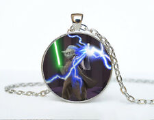 Star Wars Photo Cabochon Glass Tibet Silver Chain Pendant Necklace AAA1