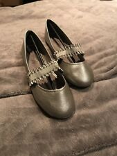Ladies Flat Pumps Size 7 Euro 40 Ballet Dolly Ballerina Slip On Shoes NEW Silver