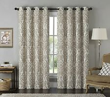 Victoria Classics Longview Mocha Grommet Window Panel  (1 panel)