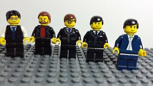 lego minifigures city / town working men / people in suits